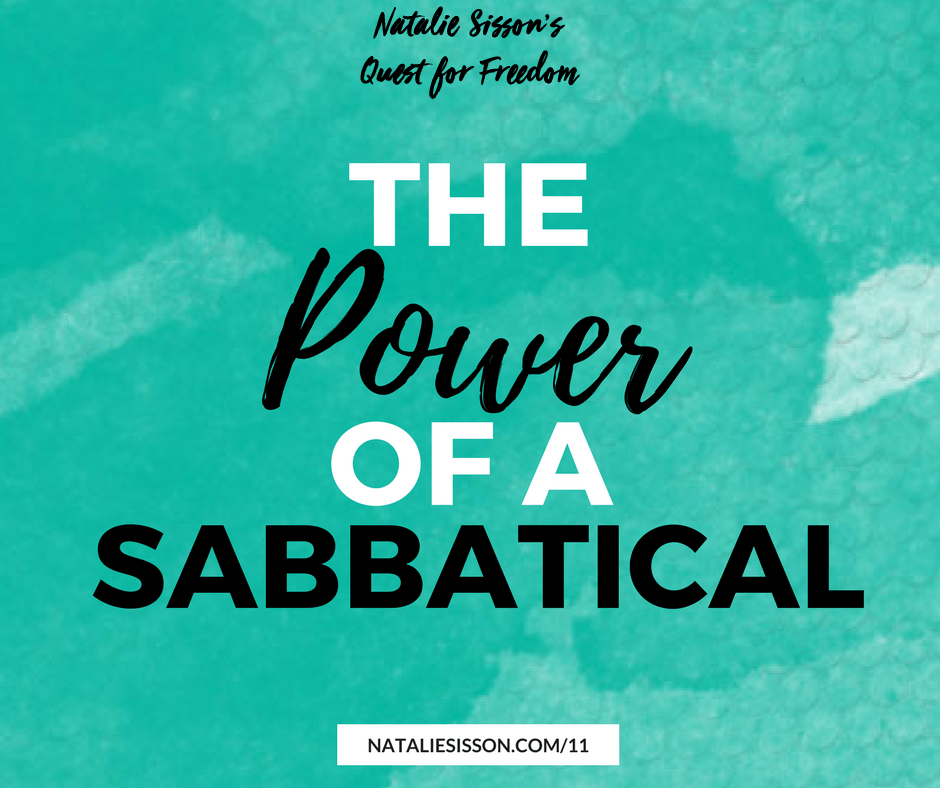 The Power of a Sabbatical